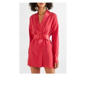 NWT Fleur du Mal Cufflink Mini Wrap Red Dress - S